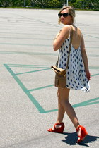 Zara dress - J Crew bag - J Crew wedges