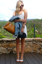 JCrew dress - JCrew jacket - Zara sandals