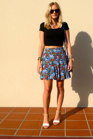 Zara skirt - hm shirt - Jcrew bag - Zara heels