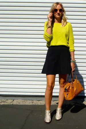 Jcrew sweater - sam edelman boots - Michael Kors bag - Jcrew skirt