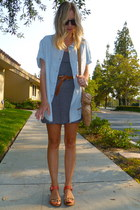 JCrew dress - H&M shirt - sam edelman sandals - JCrew belt