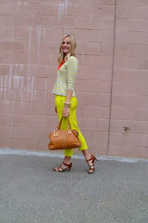 Michael Kors bag - JCrew sweater - JCrew pants - JCrew heels - JCrew necklace