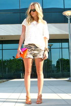 JCrew bag - Urban Outfitters shorts - TJMaxx heels - hm blouse