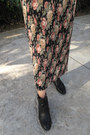 White-caged-blouse-black-franco-sarto-boots-black-floral-maxi-express-skirt