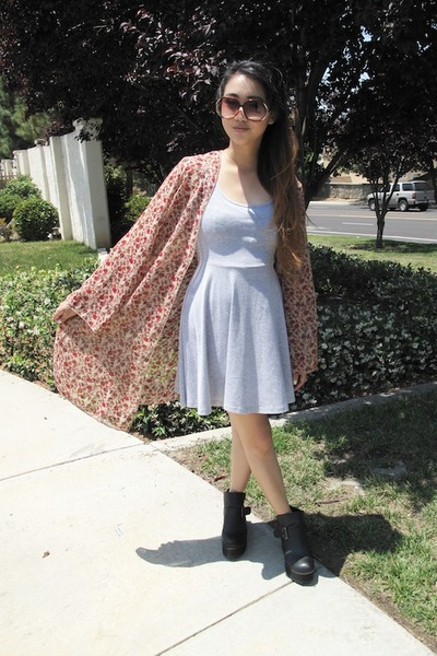 tawny floral cardigan - black platform buckle Ebay boots