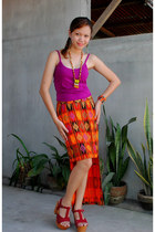 skirt - necklace