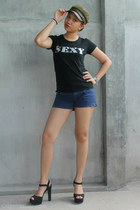 sm accessories hat - Mossimo shorts - Payless glasses - TRASH heels