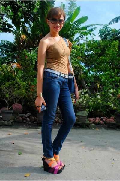 kara wedges - Novo jeans - H&M blouse