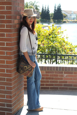 Forever 21 top - Zara jeans - coach wedges
