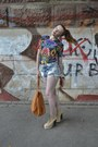 Floral-topshop-shirt-jeffrey-campbell-shoes-mango-bag-pull-bear-shorts