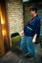 vintage Esprit belt - Melinda Looi t-shirt - general pants loafers