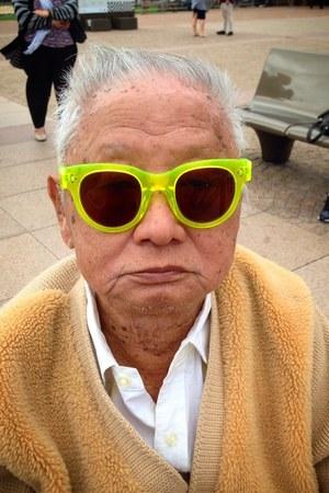 plastic vintage sunglasses - wool vintage cardigan