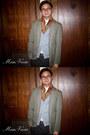 Manvious-blazer-vintage-scarf-seed-cardigan-soda-pants-guess-belt