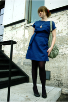 blue lark & wolff by steven alan dress - red accessories - silver UO necklace -