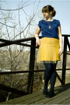 blue Apt9 shirt - silver Urban Outfitters necklace - yellow Rodarte for Target s