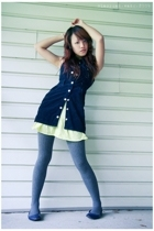 vest - dress - tights