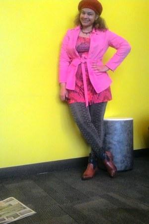 bubble gum trench coat jacket