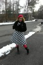 Black-checkered-dress