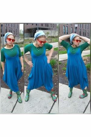 turquoise blue big baggy comfy romper