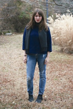 madewell sweater - Gap jeans