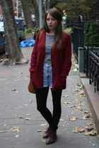 Urban Outfitters cardigan - vintage boots - Forever 21 shirt - vintage shorts