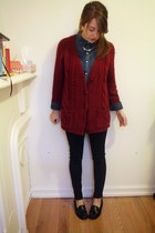 Urban Outfitters sweater - madewell shirt - Forever 21 necklace - Bass loafers