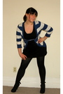 Black-old-navy-dress-blue-forever-21-sweater-black-hue-tights-black-foreve