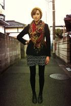 black ORiental TRaffic shoes - thrifted dress - black J coat - light orange CA4L