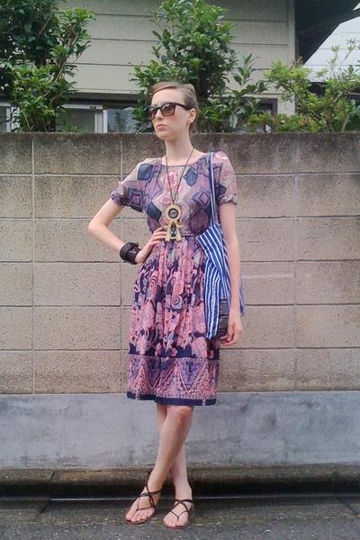 Purple Vintage Dress Blue Marimekko