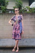 purple vintage dress - blue Marimekko