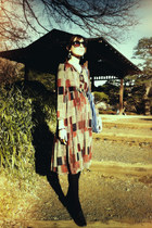 tawny Lilia dress - heather gray Rosebud coat - blue Marimekko bag - black ORien