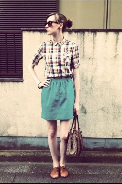 thrifted skirt - Zara shoes - Uniqlo shirt