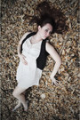 Modcloth-dress-black-lace-thrift-store-vest-payless-sandals