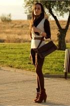 boots - dress - bag
