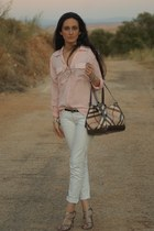 bag - shoes - blouse - pants