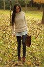 Boots-sweater-leggings-shirt-bag