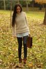 Boots-sweater-leggings-shirt-bag