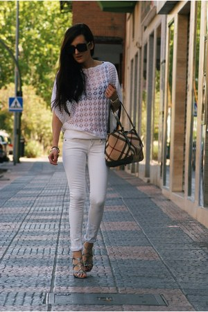 PERSUNMALL sweater - Mango jeans - Burberry bag - Aj morgan vía PLNDR sunglasses