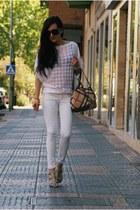 PERSUNMALL sweater - Mango jeans - Burberry bag - Aj morgan vía PLNDR sunglasses