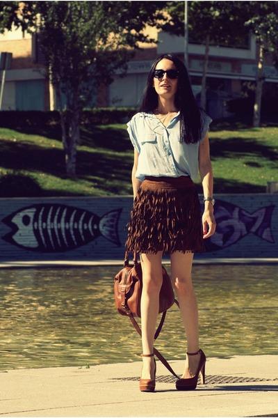 Sfera skirt - Zara bag - Bershka heels