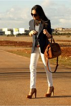 Vintage from Mum blazer - Zara bag - Bershka heels