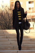 Stradivarius leggings - Stradivarius blazer - Adolfo Dominguez bag