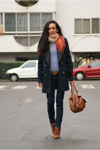 Zara boots - Mango jeans - Zara bag