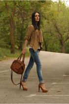 Bershka heels - Sfera jeans - Sfera jacket - Zara bag