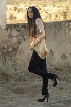 blouse - jeans - heels