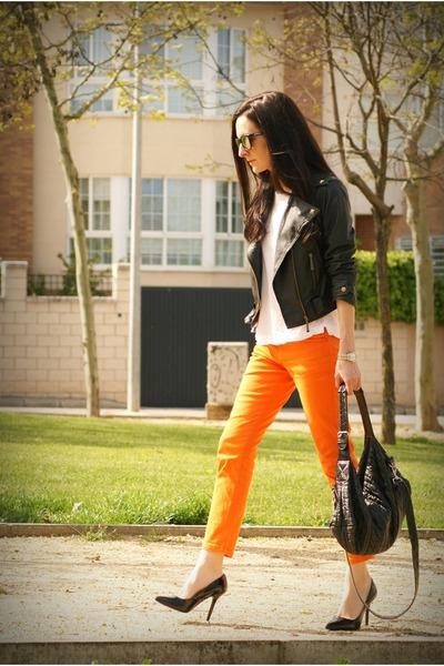 black OASAP jacket - black Adolfo Dominguez bag - black Zara heels