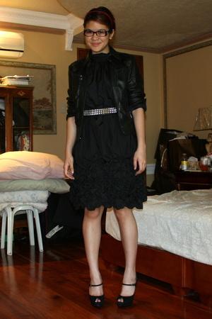Zara jacket - Zara dress - Nne West shoes