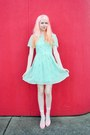 Aquamarine-milkshake-sugarhill-boutique-dress-light-pink-jelly-chicwish-wedges