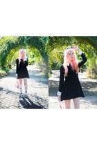black pop boutique dress - light pink jelly Sun Jellies bag