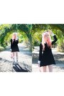 Black-pop-boutique-dress-light-pink-jelly-sun-jellies-bag